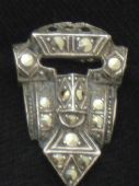 Silver and Marcasite  Art Deco  Dress Clip (sold)